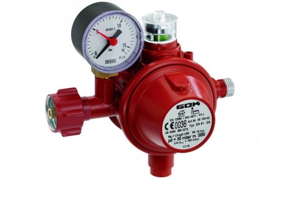 GOK Gasregler mit TAE, SBS und Manometer