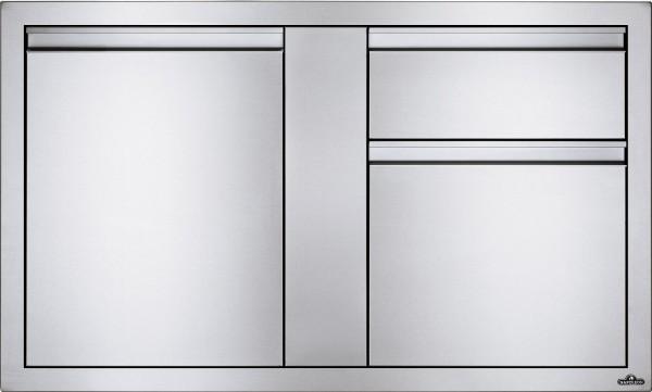 NAPOLEON Built In Einzeltür und 2er Schublade Kombination 107 x 61cm
