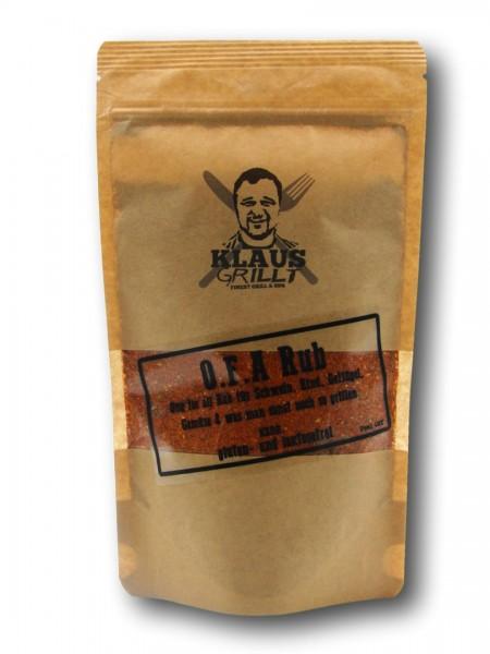 Klaus grillt O.F.A Rub 250 g Beutel