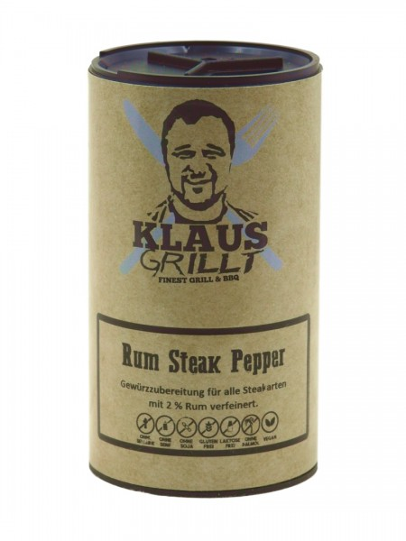 Klaus grillt Rum Steak Pepper 100g Streuer