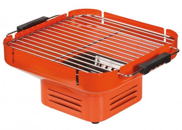 HEAT Holzkohle-Tischgrill TurnOn Orange