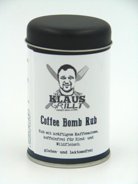 Klaus grillt Coffee Bomb Rub 120 g Streuer