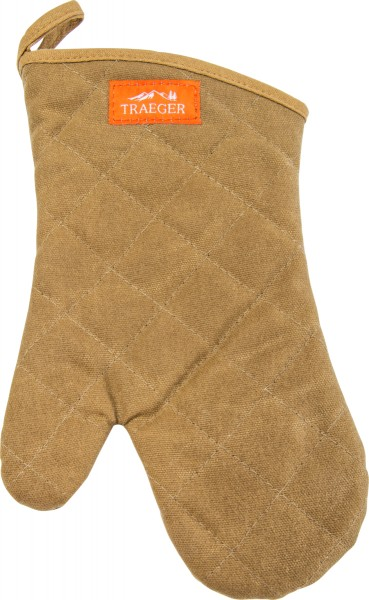 TRAEGER BBQ Handschuh aus Leinen/Lederhandschuh braun