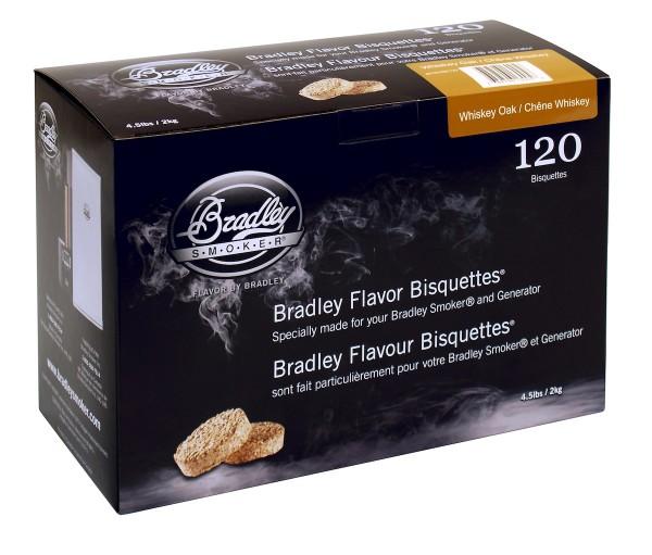 Bradley Smoker Whiskey Eiche-Aromabisquetten (120 Stück)