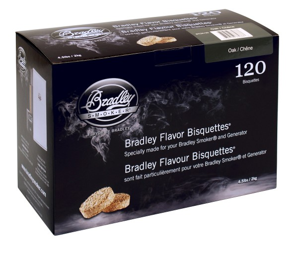 Bradley Smoke Eiche-Aromabisquetten (120 Stück)