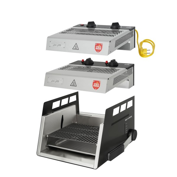 Otto Wilde Grillers Ottos O.F.B. Premium Komplett-Set, Gas + Elektro