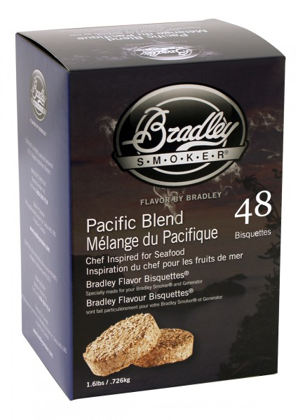 Bradley Smoker Pacific Blend Aromabisquetten (48 Stück)
