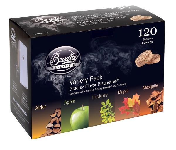 Bradley Smoke Five Flavour Varieties Aromabisquetten (120 Stück)