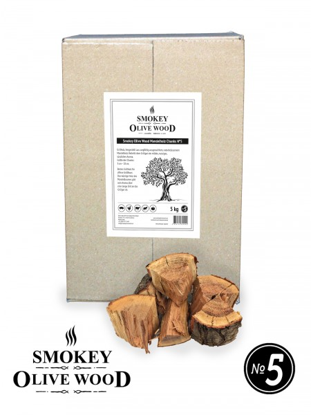 SMOKEY OLIVE WOOD Mandelholz Chunks