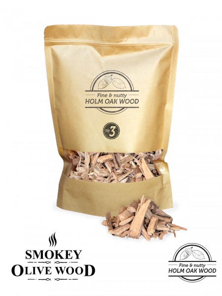 SMOKEY OLIVE WOOD Steineiche Räucher Chips