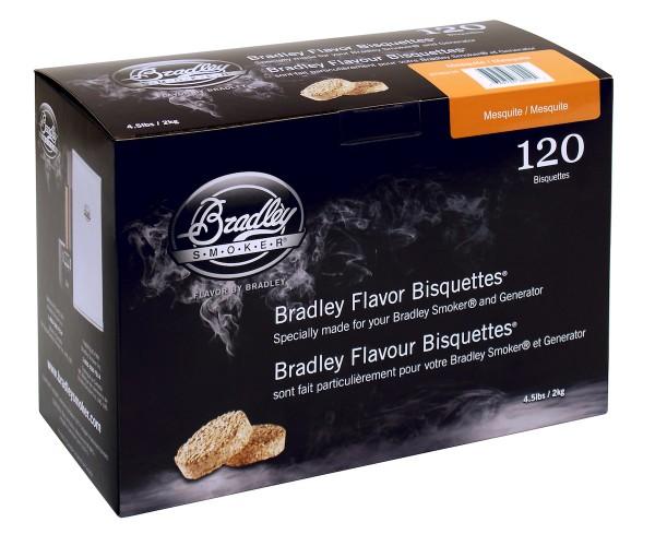 Bradley Smoker Mesquite-Aromabisquetten (120 Stück)