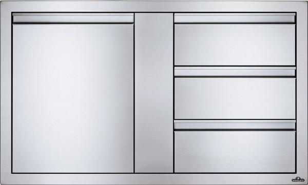 NAPOLEON Built In Einzeltür und 3er Schublade Kombination 42 x 24 Inch