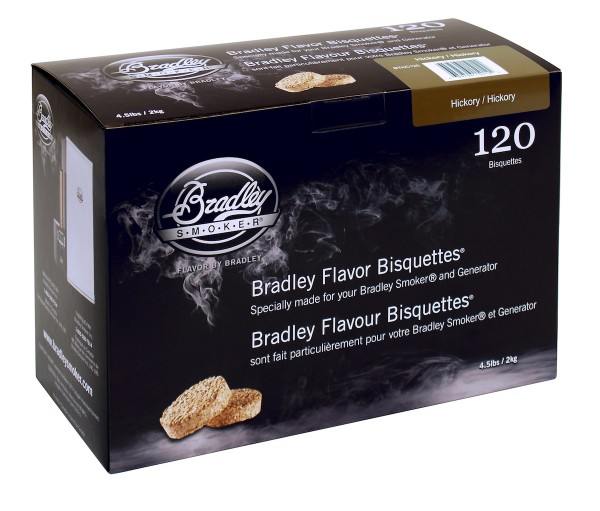 Bradley Smoker Hickory-Aromabisquetten (120 Stück)