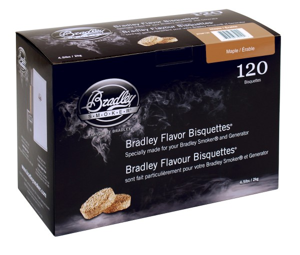 Bradley Smoker Ahorn-Aromabisquetten (120 Stück)