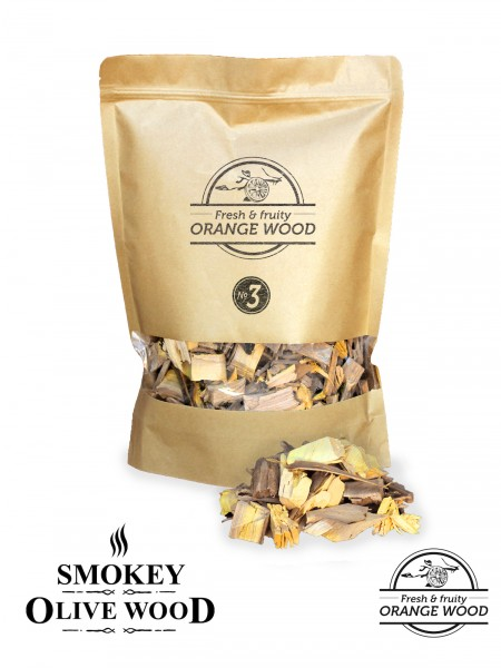 SMOKEY OLIVE WOOD Orangenholz Räucher Chips
