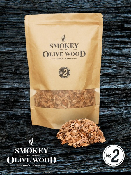 SMOKEY OLIVE WOOD Olivenholz Räucher Chips kleine Körnung