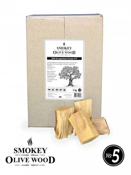 SMOKEY OLIVE WOOD Orangenholz Chunks