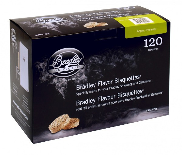 Bradley Smoker Apfel-Aromabisquetten (120 Stück)