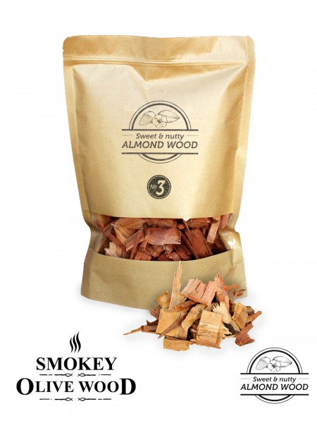 SMOKEY OLIVE WOOD Mandelholz Räucher Chips