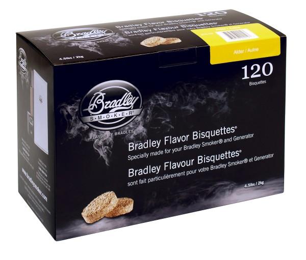 Bradley Smoker Erle-Aromabisquetten (120 Stück)