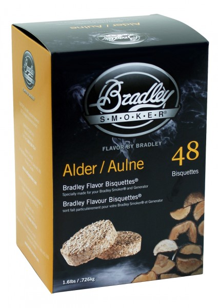 Bradley Smoker Erle-Aromabisquetten (48 Stück)